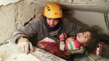 Two-year-old rescued from collapsed building after 6.8 earthquake