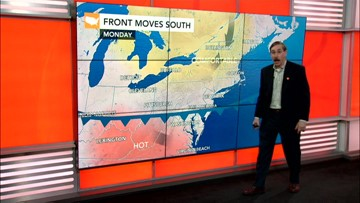 Pleasant in the East this week; Humberto moves away