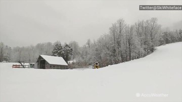 Snow keeps falling, ahead of opening weekend at this ski resort