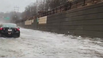 Disastrous flooding slams Pennsylvania turnpike