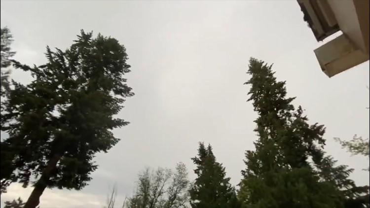 Thunderstorm rolls through Washington