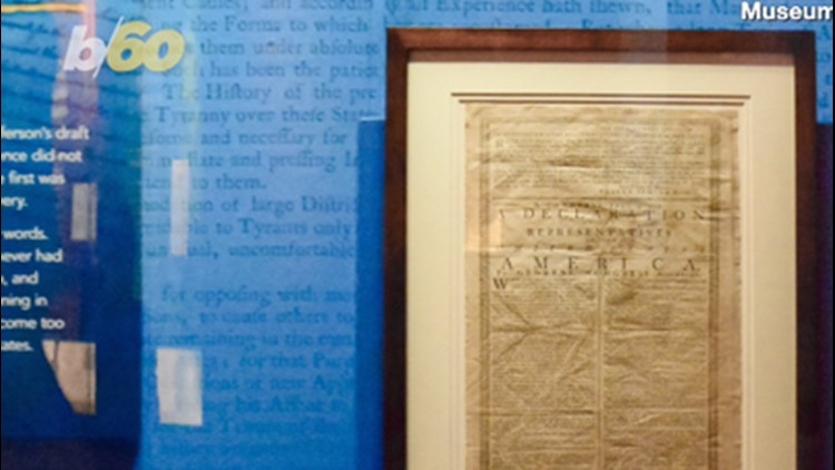 Printed Version of Declaration of Independence Printed in 1776 Is Now on Display