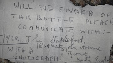 All Bottled Up! Man Walking Dog Discovers Message in a Bottle Thrown in Ocean 80+ Years Ago!