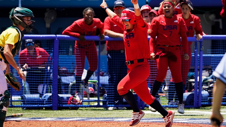 US beats Australia in softball, sets up gold medal rematch with Japan