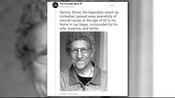 Actor, comedian, Comedy Store co-founder Sammy Shore dies