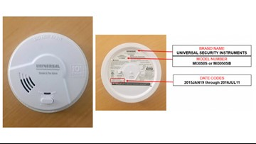 Smoke alarms recalled for failure to activate