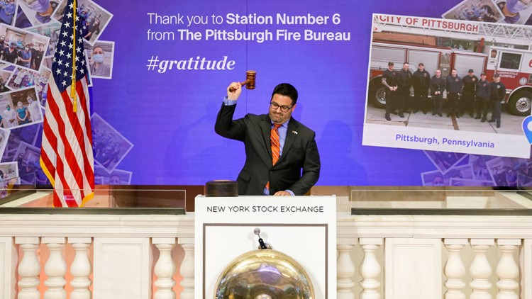 New York Stock Exchange Gratitude Campaign May 18 AP