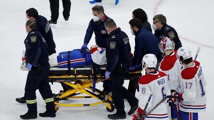 Brutal hit on Jake Evans mutes Canadiens' Game 1 win over Winnipeg