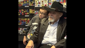 Elementary student raises money for his custodian 'best friend'