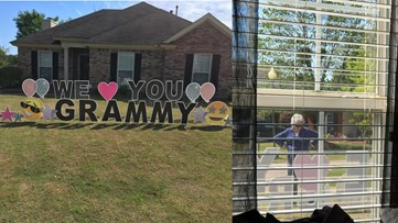 Ala. great-grandmother in quarantine tears up at heartwarming sign