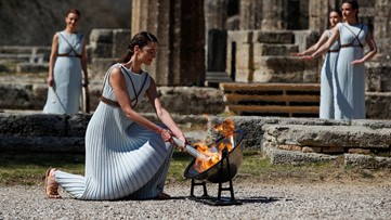 Tokyo 2020 Olympic flame lit in Greece