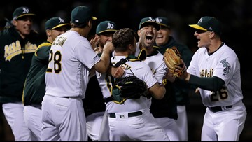 Athletics' Mike Fiers pitches second career no-hitter, blanks Reds 2-0