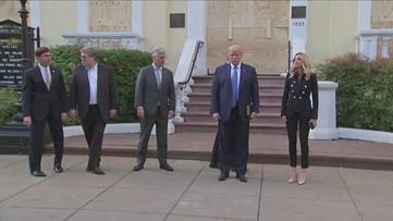 Trump makes surprise visit to St. John's Church