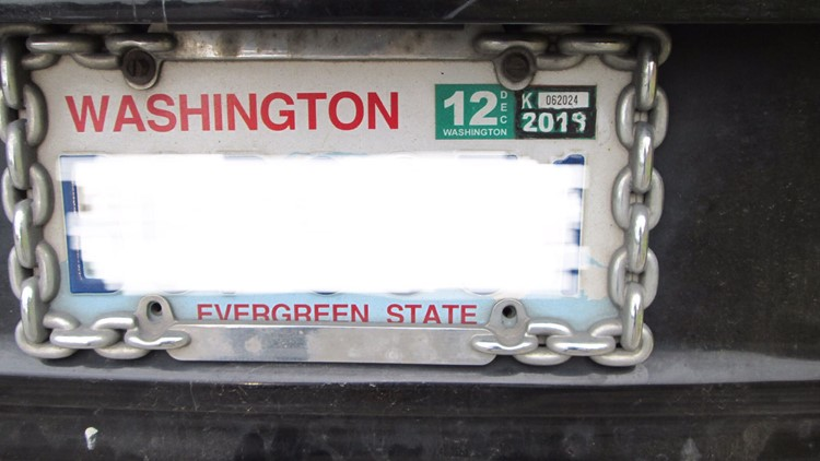 Doctored 2018 license plate tab