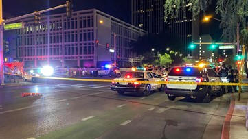 Officer shot in Las Vegas amid Floyd protests