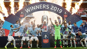 Manchester City completes sweep of English trophies with FA Cup win
