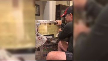 Woman saves years of sticky notes from stepdad, brings him to tears with gift