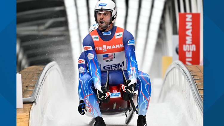 US luge star breaks foot after hitting piece of ice at 75 mph