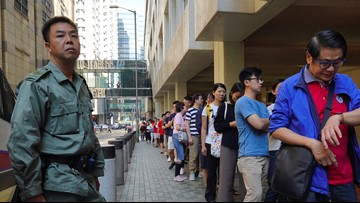 Massive turnout in Hong Kong vote seen as pro-democracy test