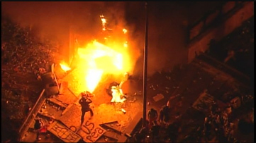 MPD Third Precinct burns as protests continue following George Floyd's death