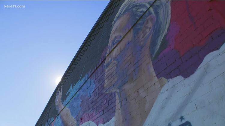 'It's so humbling': Megan Rapinoe talks about her St. Paul mural, & its deeper meaning