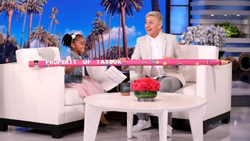 Pearland girl who had perfect attendance pencil stolen appears on 'Ellen'
