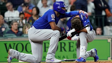 'Just praying. I'm speechless.' | Batter breaks down after his line drive hits little girl at Cubs-Astros game