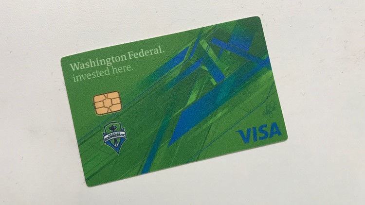Stefan Frei designed the team credit card for Washington Federal Bank.