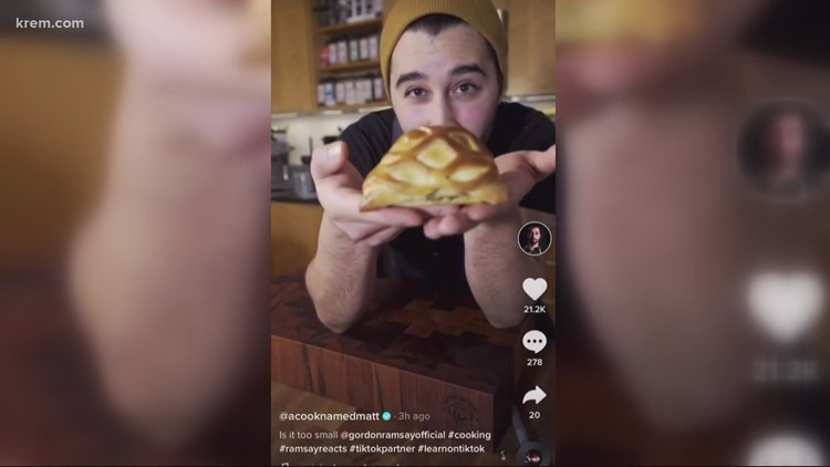 Chef goes viral on TikTok after losing his job during the pandemic