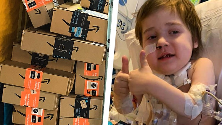 'I don't know if it's going to stop' | Hundreds of packages of stickers, cards sent to hospitalized 5-year-old in California