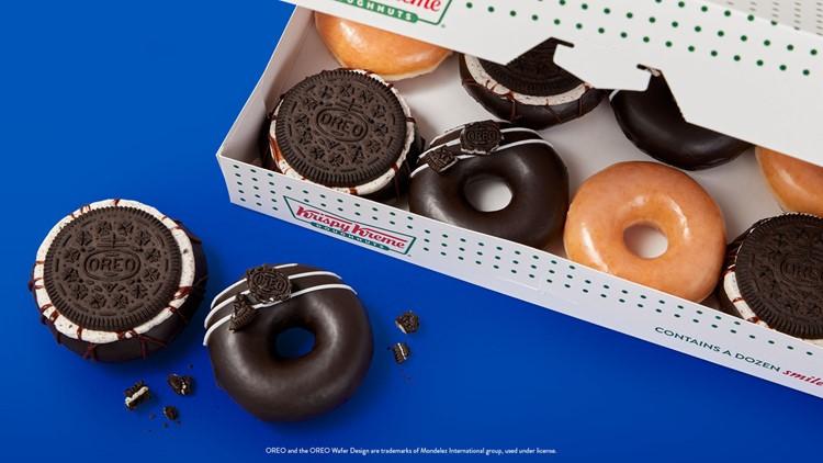 Krispy Kreme releases OREO-glazed doughnuts