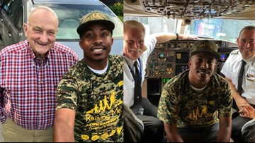 Delta just flew this man to Alaska, Hawaii so he could complete his mission of mowing lawns for military vets in all 50 states