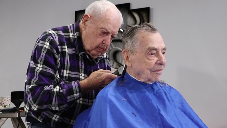 'I'll have to quit someday, but not today' | 92-year-old Belmont barber has been cutting hair for more than 73 years