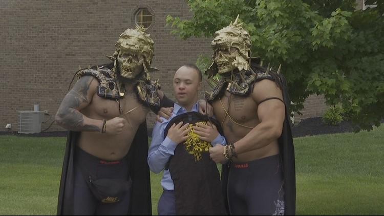 Justin Littlejohn and wrestlers