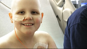 Boy battling cancer asks for cards for his 10th birthday