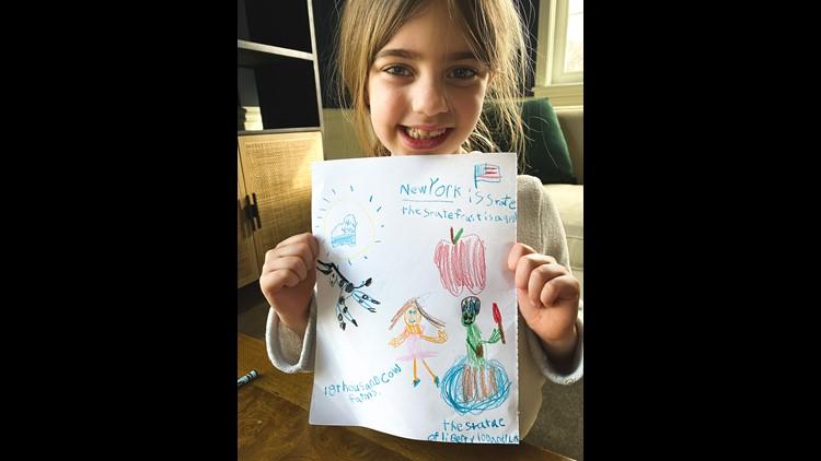 Scarlett New York drawing