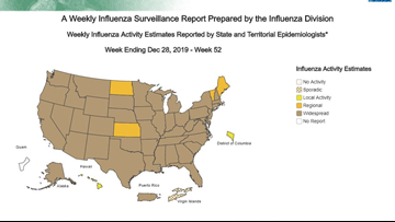 CDC reports influenza in Ohio is 'widespread'