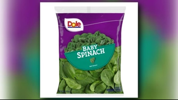 RECALL ALERT | Dole announces recall of baby spinach due to possible salmonella risk