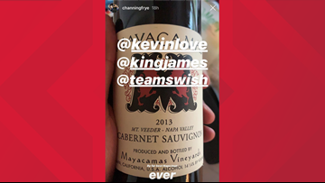 Check out the wine loved by Channing Frye, Lebron James, Kevin Love and J.R. Smith