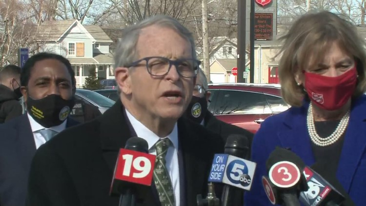 Gov. Mike DeWine, Lt. Gov. Jon Husted help launch broadband expansion project in East Cleveland