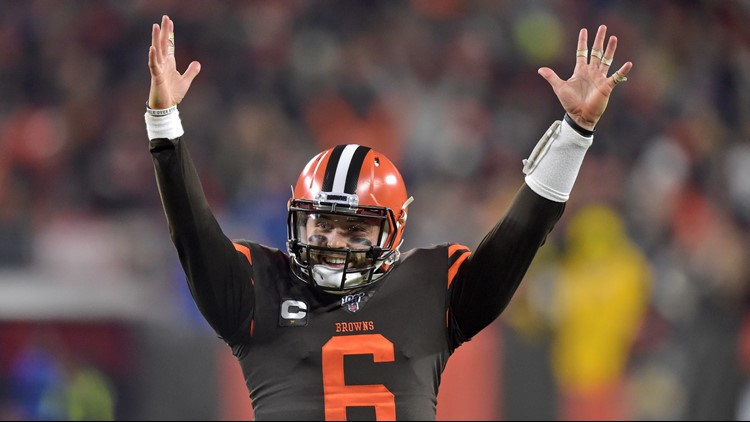 Baker Mayfield Cleveland Browns-Pittsburgh Steelers football