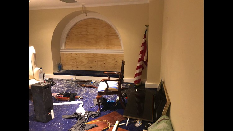 Brand new images of the wreckage from the deadly insurrection shared by US Senator for Ohio Sherrod Brown