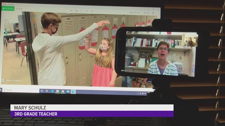 After going viral, Iowa teacher's custom handshakes are here to stay