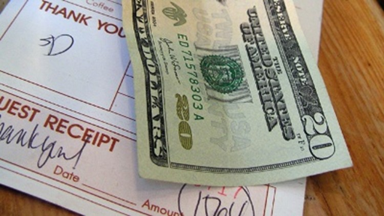 Restaurant bill tip