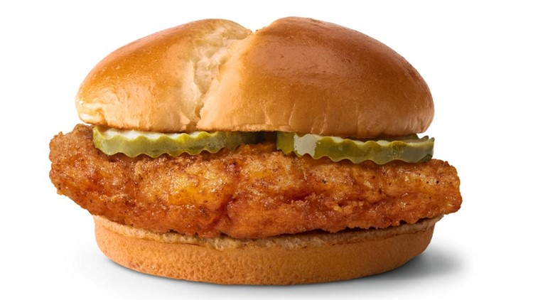McDonald's giving away free chicken sandwiches on Thursday at Toledo-area drive-thrus