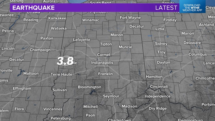Earthquake recorded in western Indiana