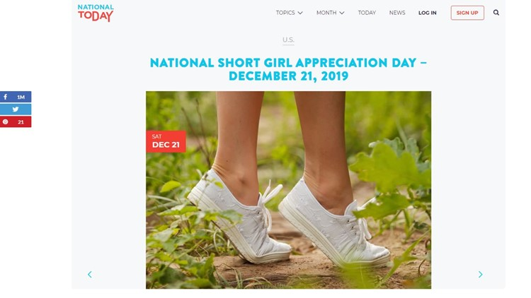 Saturday is National Short Girl Appreciation Day