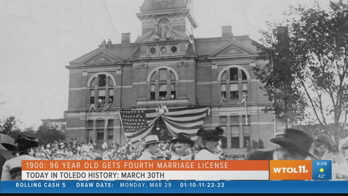 A fourth marriage license and political riots | Today in Toledo History March 30