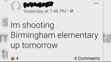 Message on social media threatens to shoot up Birmingham Elementary School