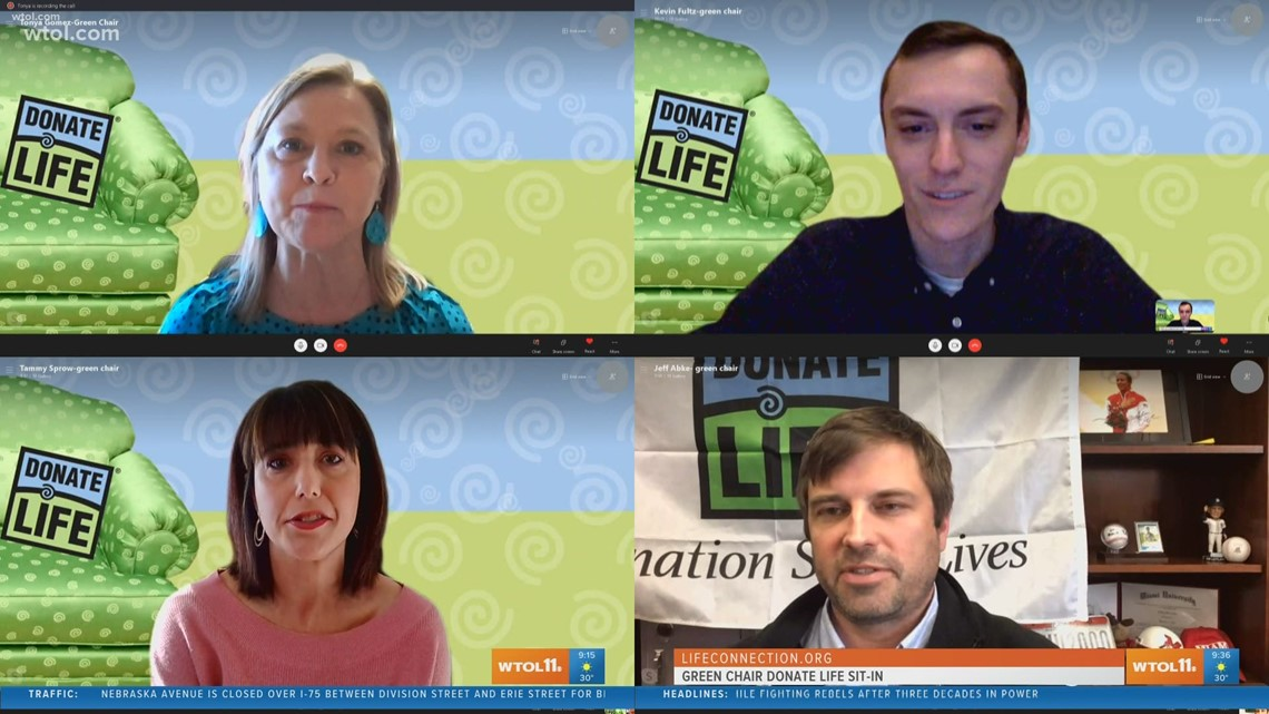 Donate Life Green Chair Sit-in goes virtual, with the real stories of donors and recipients